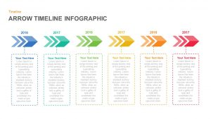Infographic Arrow Timeline PowerPoint Template and Keynote Slide