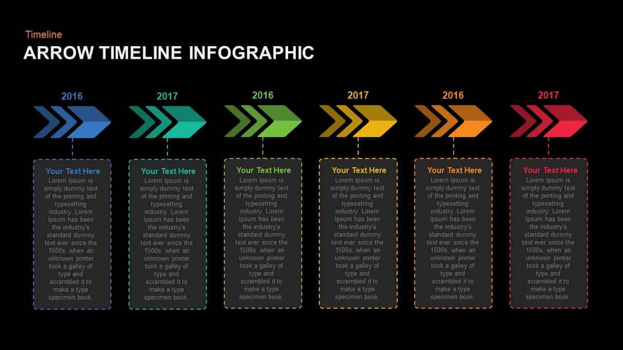 Arrow Timeline Infographic PowerPoint template