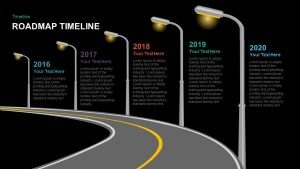 Timeline Roadmap PowerPoint Template and Keynote Slide