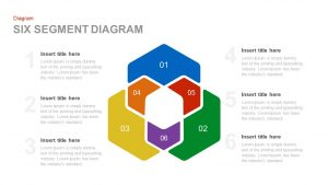 Six Segment Diagram PowerPoint Template and Keynote template