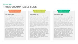 3 and 4 Columns Table Slide PowerPoint Template & Keynote