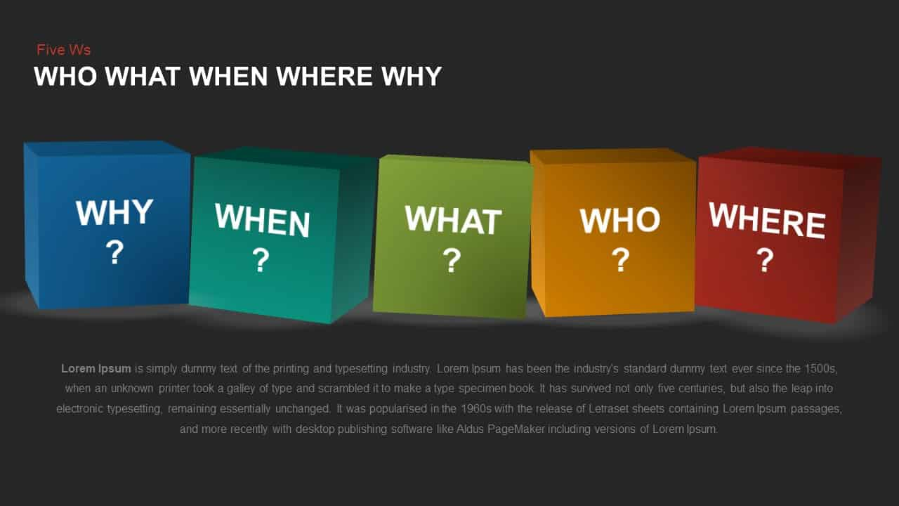 Five Ws PowerPoint template