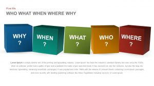 Who What When Where Why - Five Ws PowerPoint Template