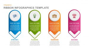 Infographics Ribbon PowerPoint template and Keynote