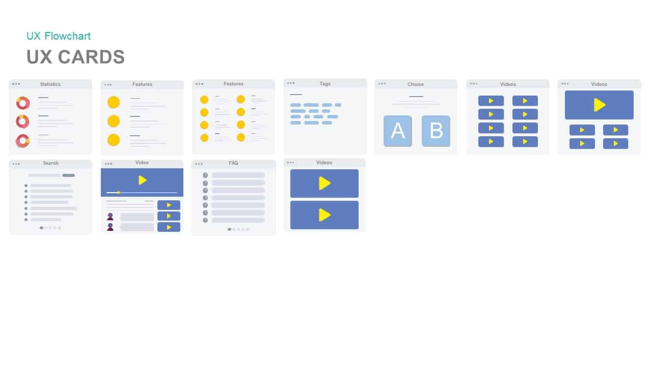 UX cards powerpoint template