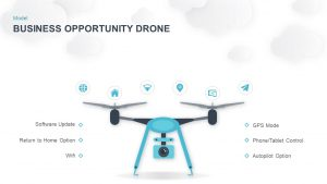 Drone PowerPoint Template for Business Opportunity Presentation