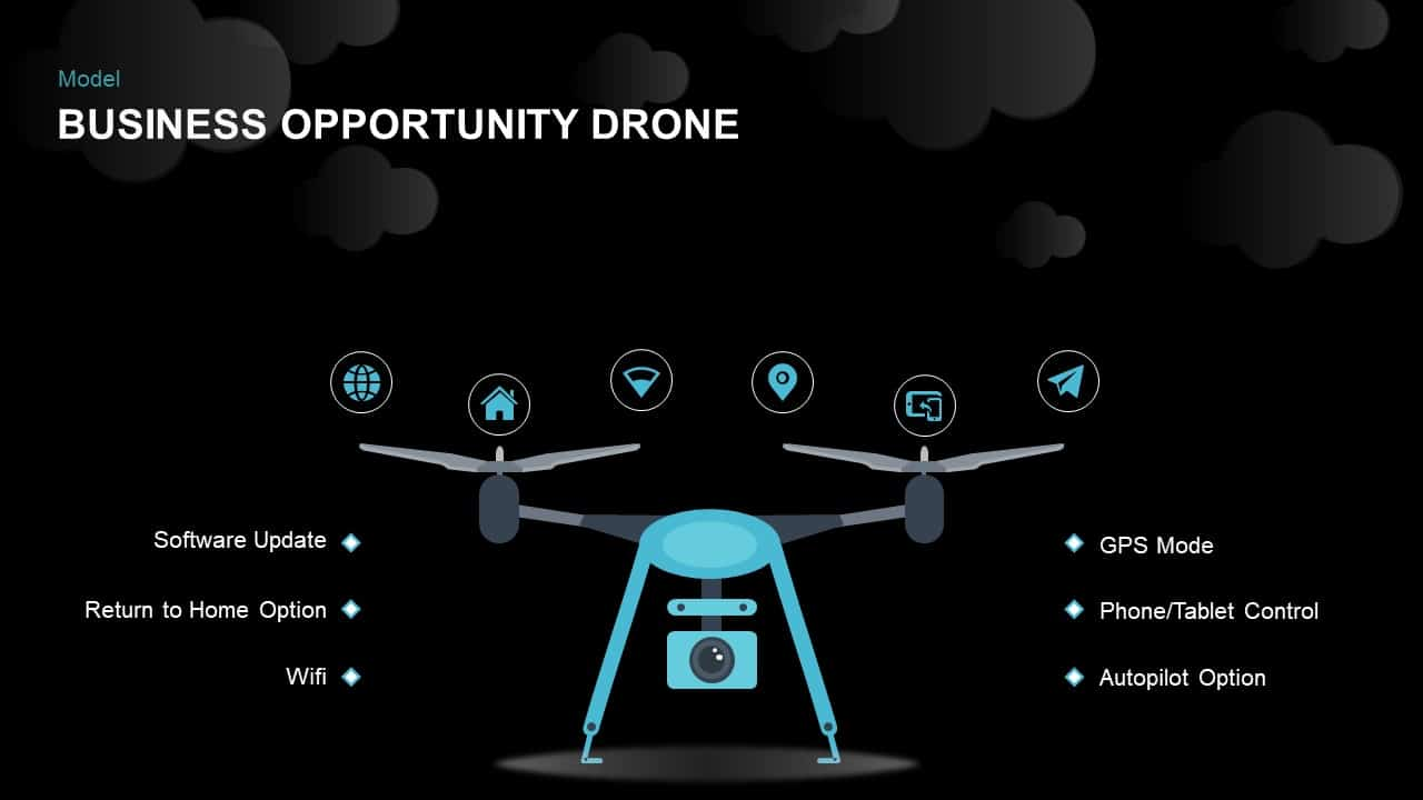 Business Opportunity Drone PowerPoint Templates