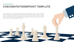 Checkmate PowerPoint Template – Strategy Vector Illustration