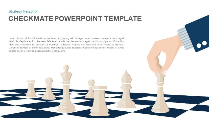 Checkmate Powerpoint Template Strategy Vector Illustration