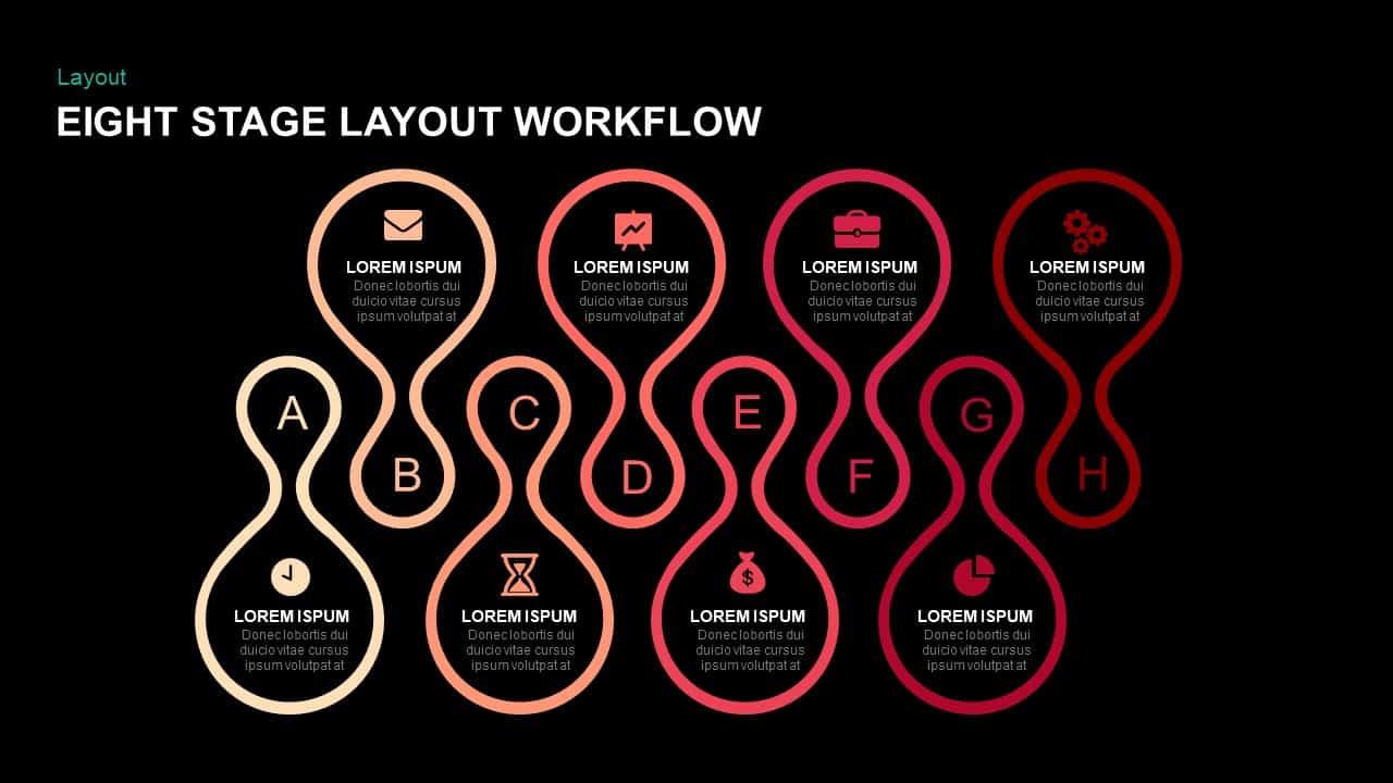 Eight Stage Layout Workflow PowerPoint Templates & Keynote Presentation