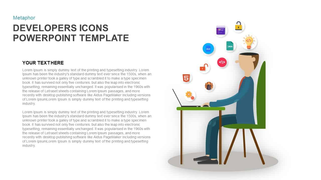 Metaphor Developers Icons PowerPoint Template