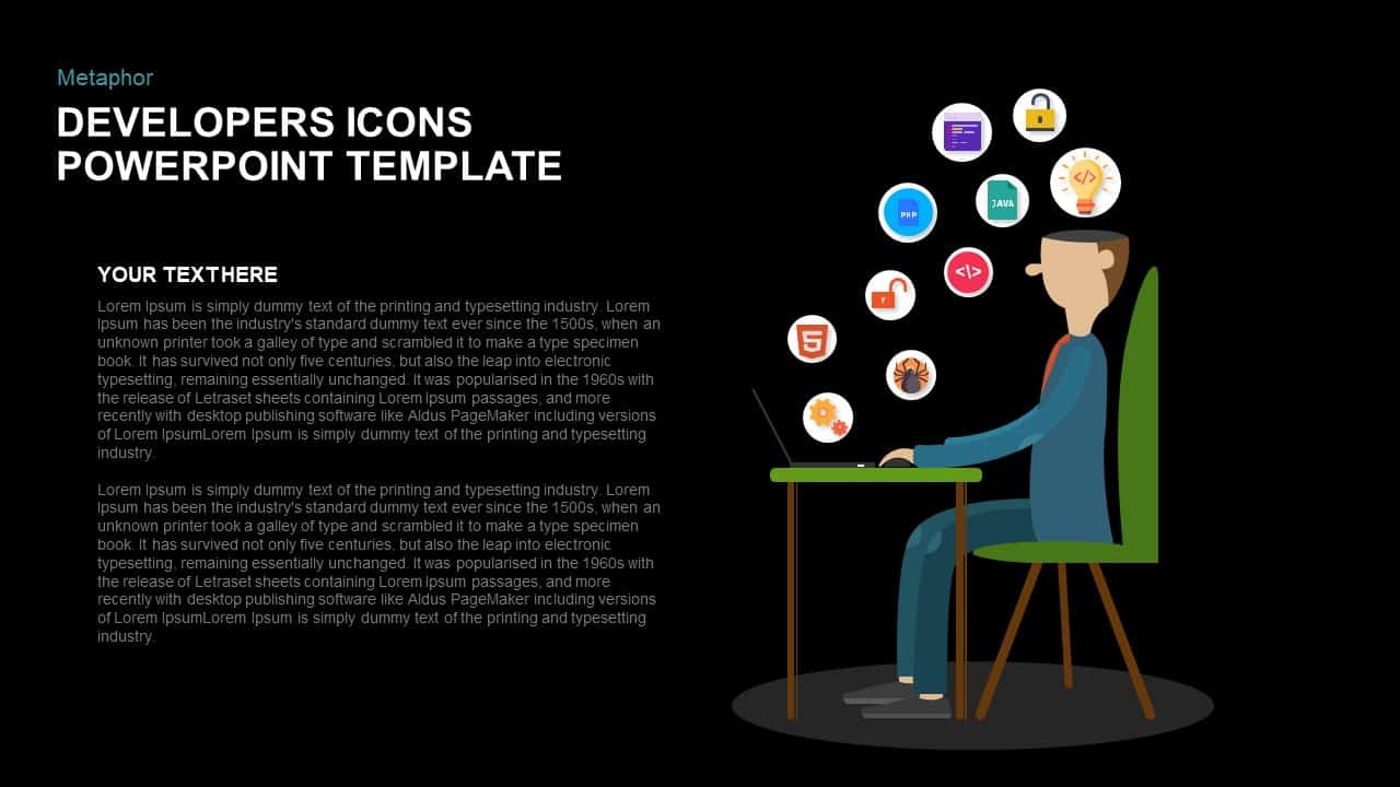 Metaphor Developers Icons PowerPoint Template and Keynote