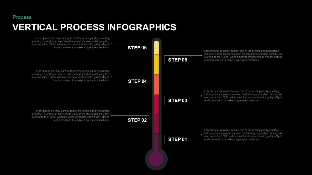 Vertical Process Infographics PowerPoint Templates