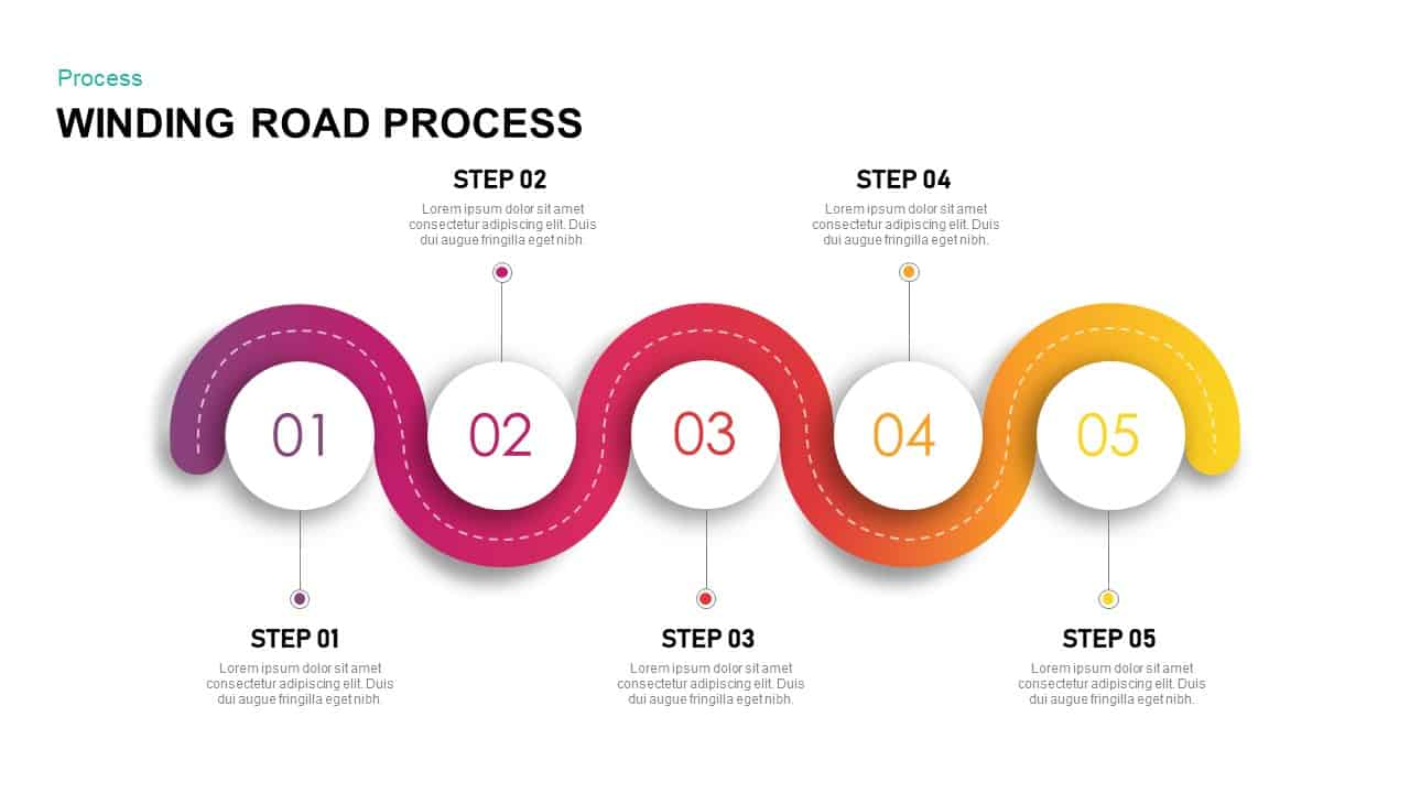 Winding road powerpoint template and keynote presentation