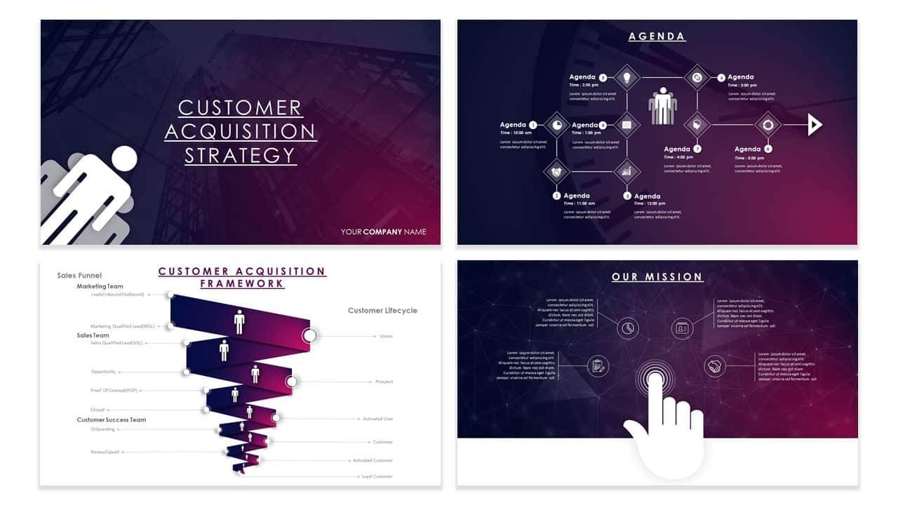 customer acquisition strategy template for powerpoint-1