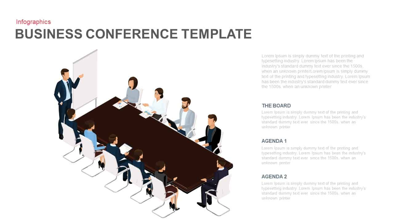 Business Meeting PowerPoint Template - Business Conference PowerPoint Template