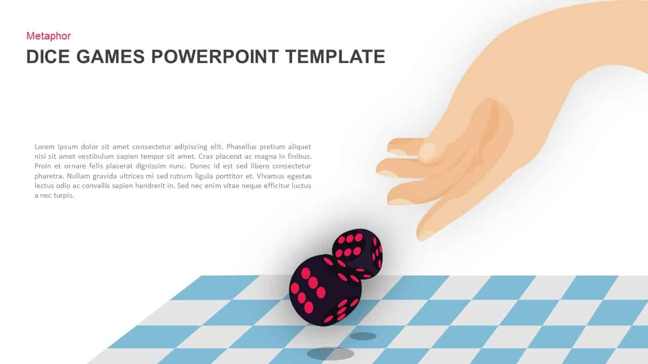 Dice Gaming PowerPoint Template and Keynote
