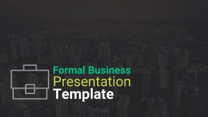 Formal Business Presentation Template for PowerPoint and Keynote