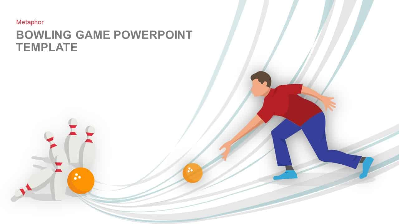 Game Bowling PowerPoint Template and Keynote