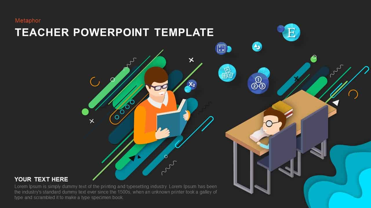 Metaphor Teacher PowerPoint Template1