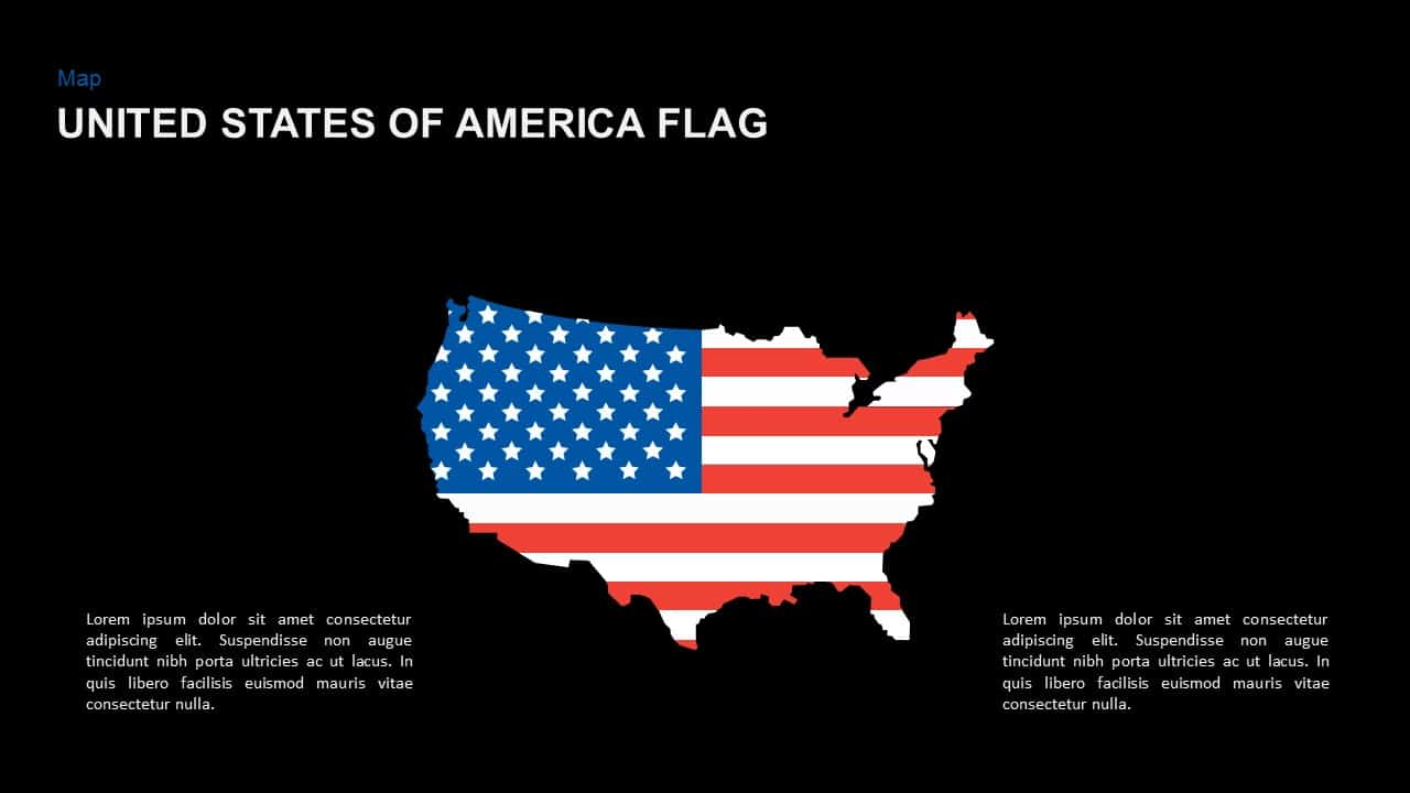 United States of America Flag PowerPoint Template