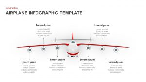 Infographic Airplane PowerPoint Template and Keynote