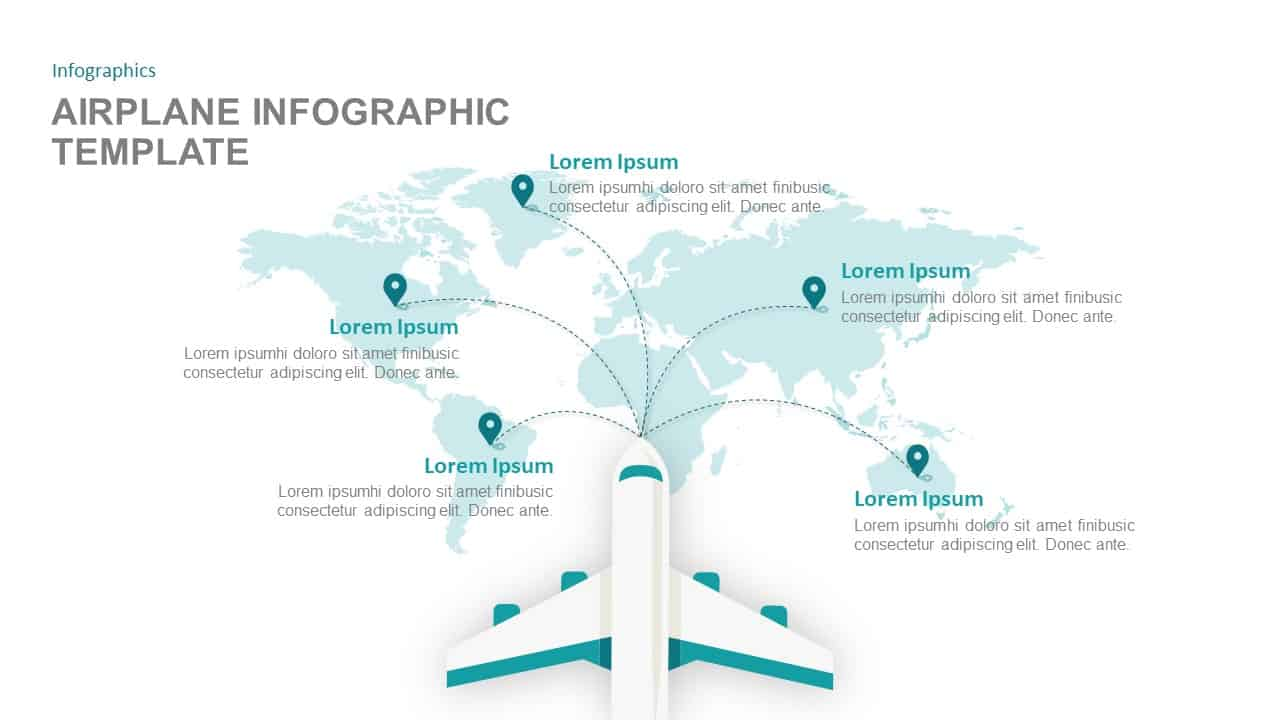 Airplane Infographic Template for PowerPoint And Keynote