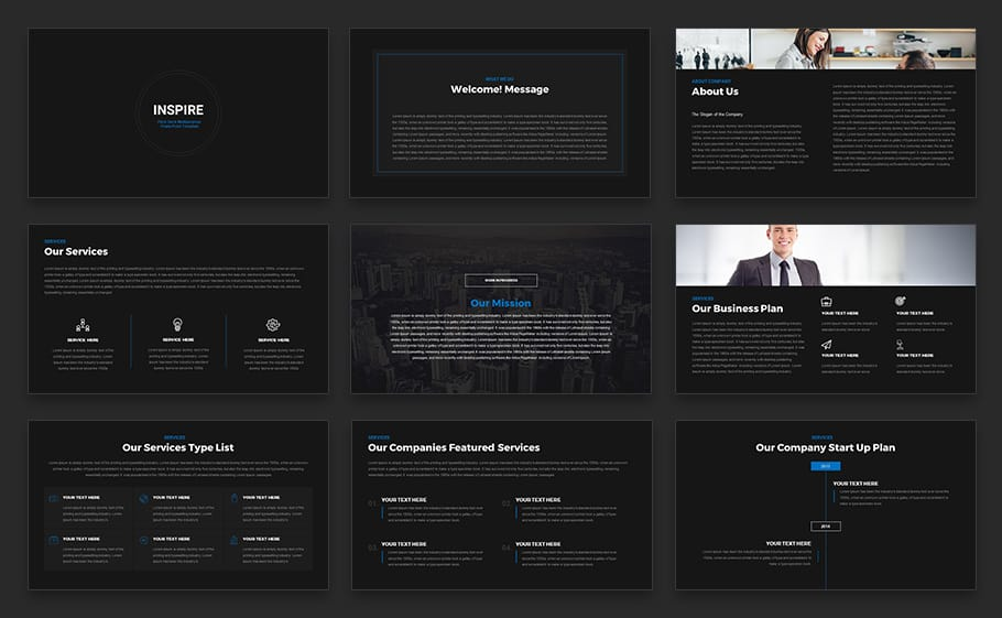 INSPIRE - Pitch Deck Multipurpose PowerPoint Template