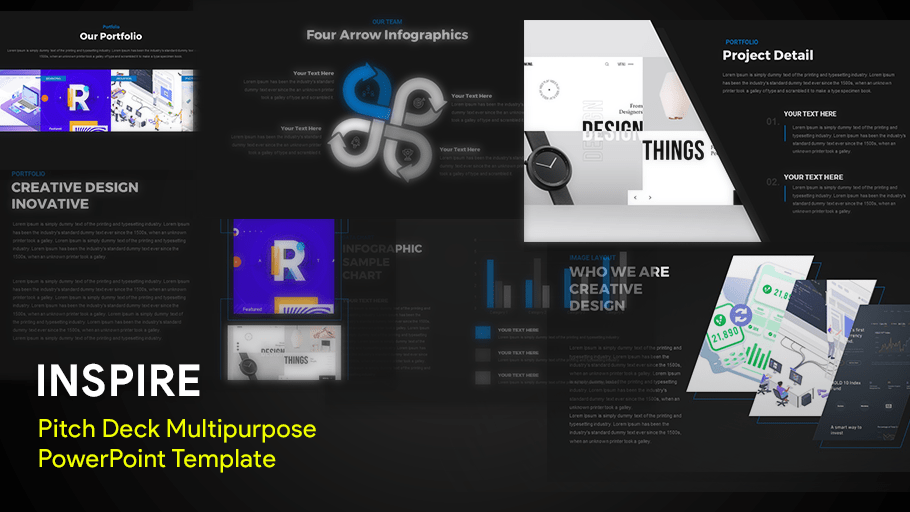 INSPIRE - Multipurpose Pitch Deck PowerPoint Template & Keynote