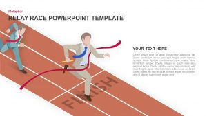 Relay Race PowerPoint Template and Keynote