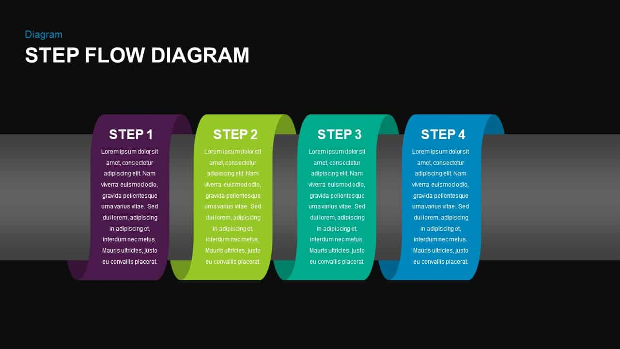 Step Flow Diagram for PowerPoint