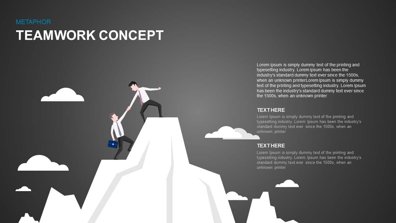 Teamwork Concept Metaphor PowerPoint and Keynote