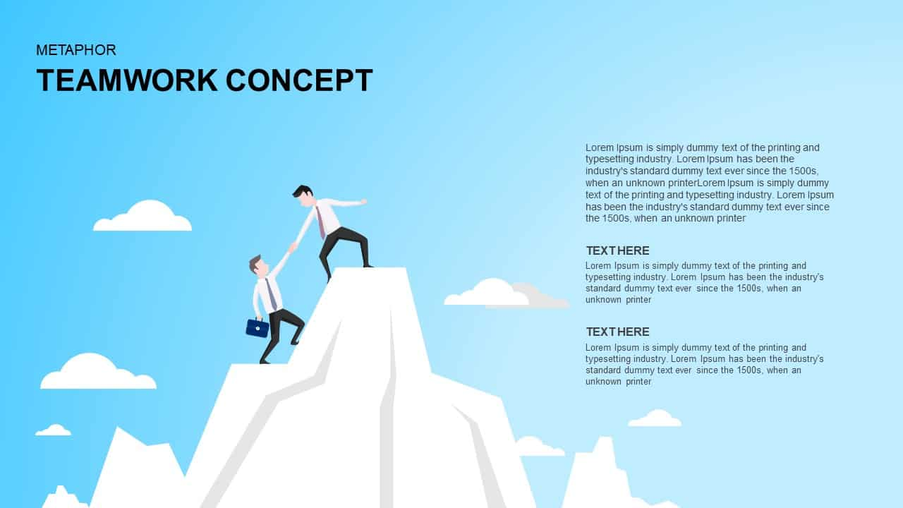 Teamwork Concept PowerPoint Template and Keynote