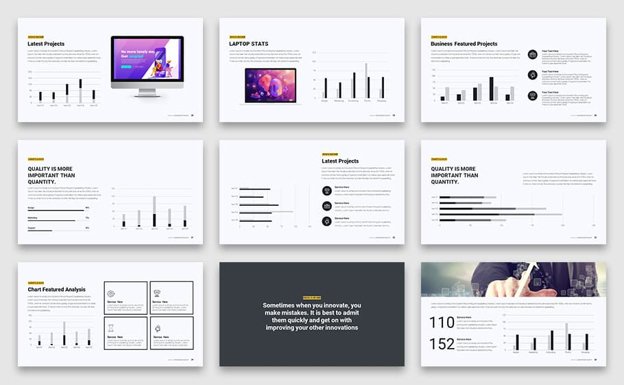 Modern Minimal Business PowerPoint Template and Keynote