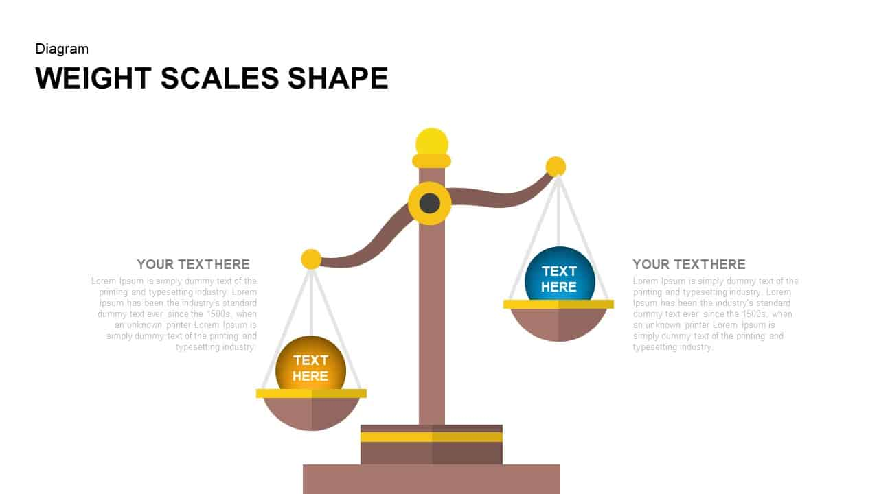 Weight Scales Shape Keynote Template
