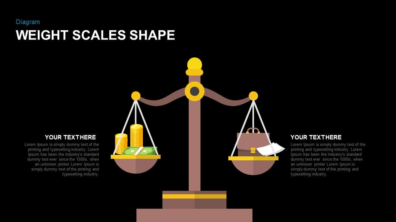 Weight Scales Shape PowerPoint Template and Keynote