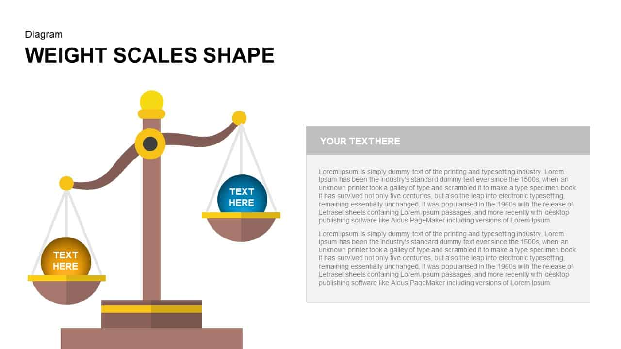 Weight Scales Shape PowerPoint Template