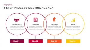 4 Step Process Meeting Agenda PowerPoint Template and Keynote