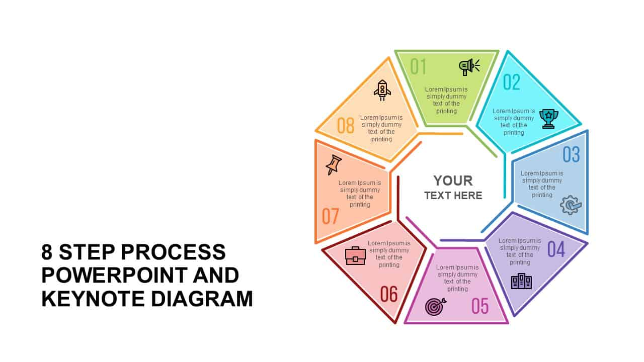 8 Step Process Diagram Template for PowerPoint
