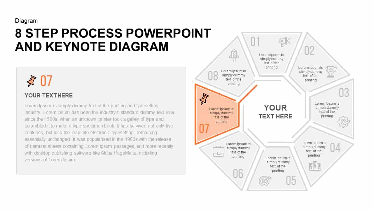 8 Step Process PowerPoint Diagram