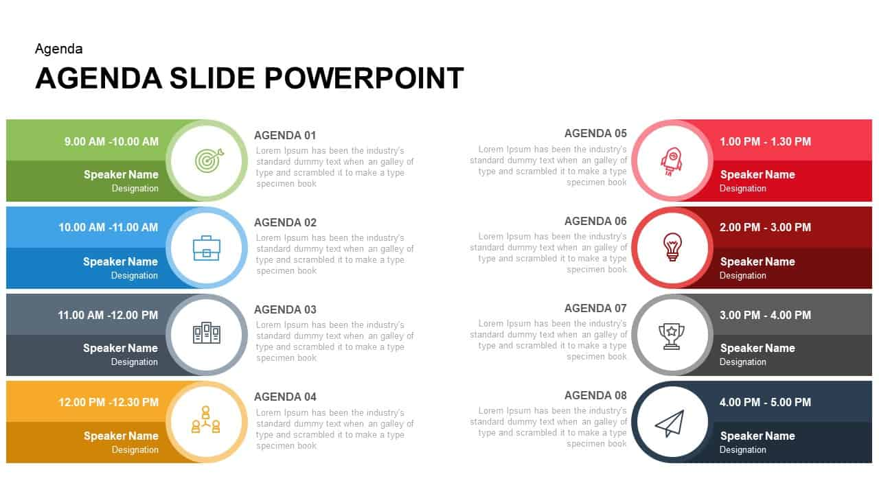 Agenda Slide PowerPoint Template and Keynote