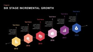 6 Stage Incremental Growth PowerPoint and Keynote Slides