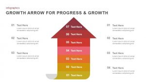 Progress & Growth Arrow PowerPoint Template and Keynote