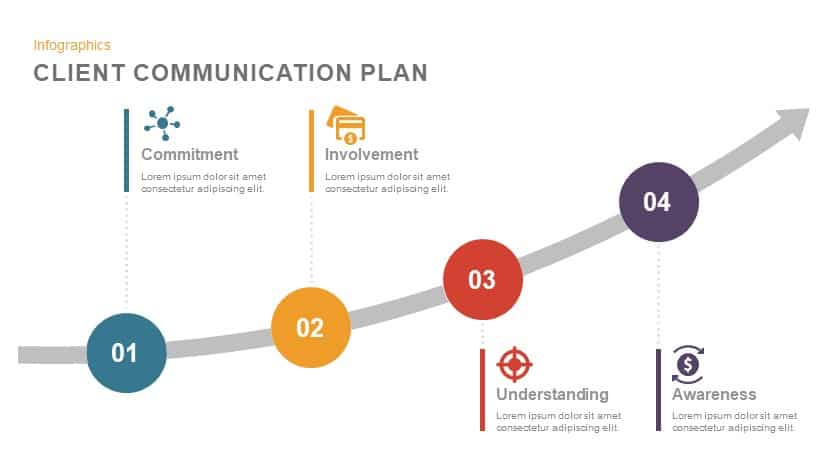 Client Communication Plan Point Template And Keynote