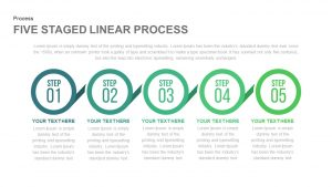 5 Staged Linear Process Template for PowerPoint and Keynote