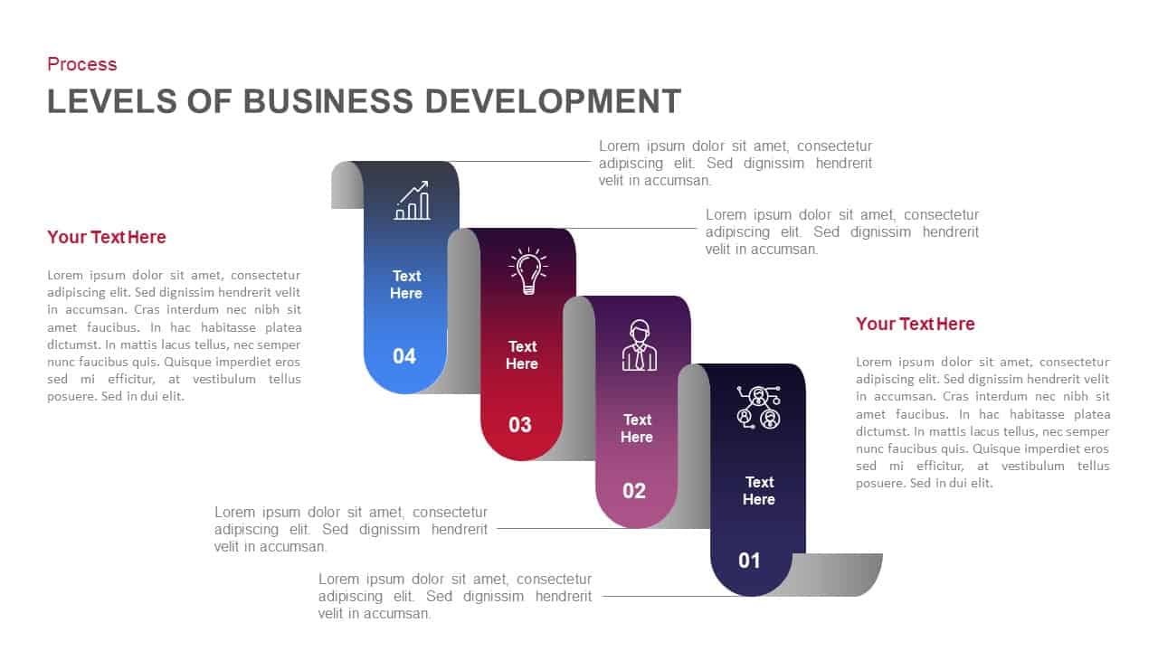 Levels of business development powerpoint template and keynote slide