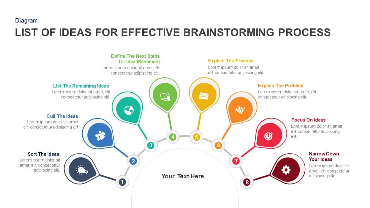 Techniques for Effective Brainstorming Process PowerPoint template and Keynote slide