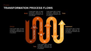 Transformation Process Flow PowerPoint Template and Keynote Slide