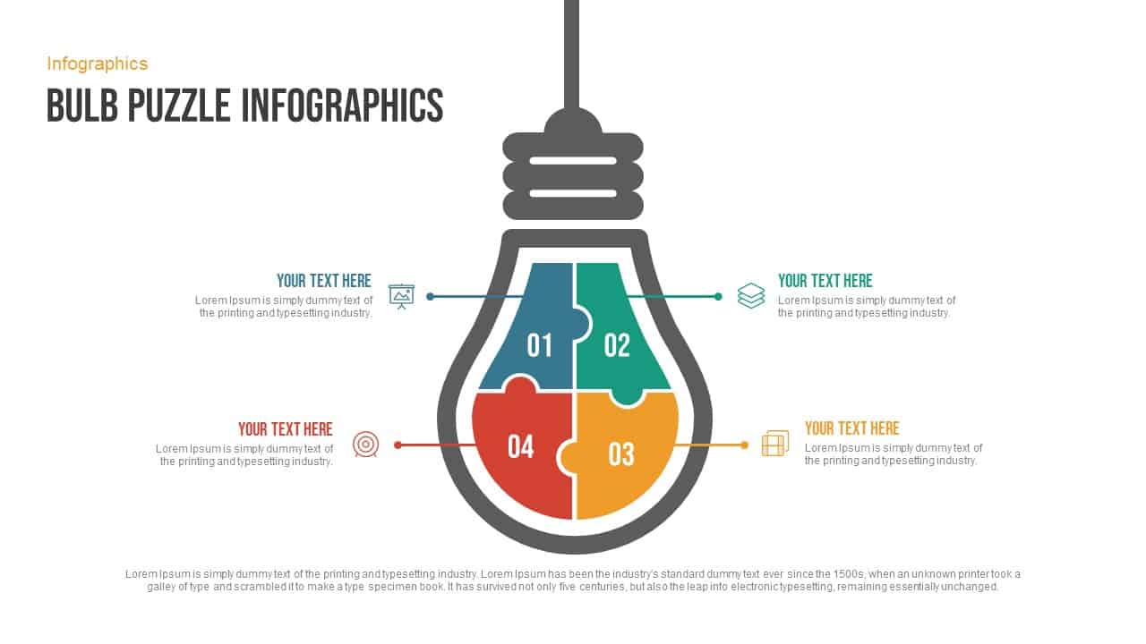 bulb puzzle infographics free powerpoint template