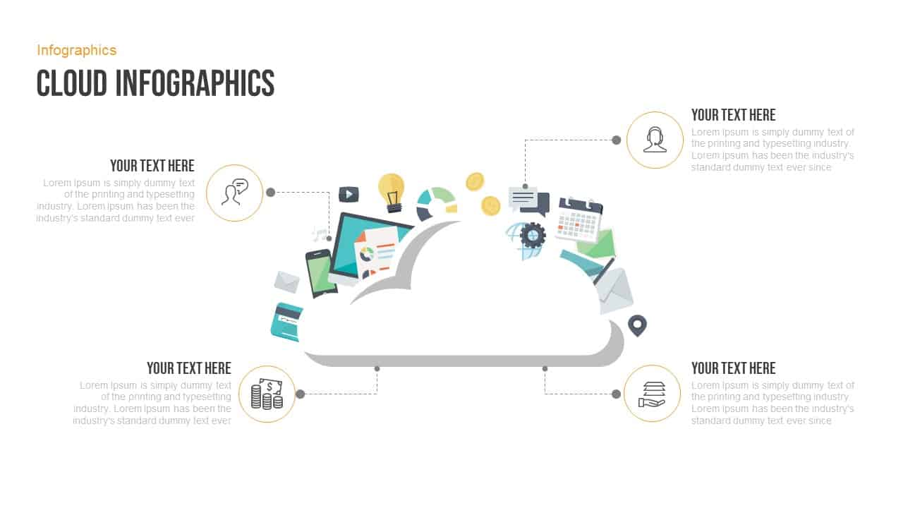 Cloud infographics free powerpoint template
